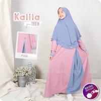 Baju Anak KALILA Gamis Set Hijab Umur 9 sd 12 Tahun