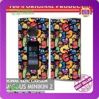 Original! Mod Vape Asmodus Minikin 2 / V2 Skin / Garskin - Doodle