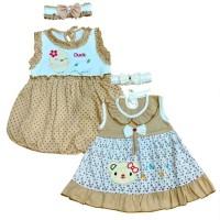 Two Mix Baju Bayi Perempuan Murah 0 - 6 bulan dj689