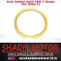 Velg Almini TDR W Shape Warna Gold Ukuran 185 Ring 17