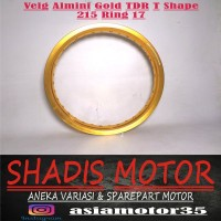 Velg Almini TDR W Shape Warna Gold Ukuran 215 Ring 17