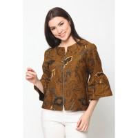 Baju Atasan Batik Wanita Modern Nona Rara, Vinci Sogan T0198 - XL