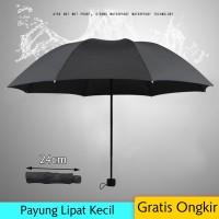 Payung Lipat Kecil Mini Warna Hitam Polos - Hitam