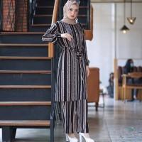 Baju Stelan Muslim Wanita / Outfit Hijab Modern Suplier Pakaian Dewasa