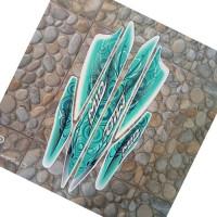 stiker striping motor mio sporty 2011 putih-hijau