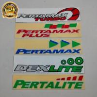 Stiker cutting Pertamax dexlite pertalite berkualitas terbaik
