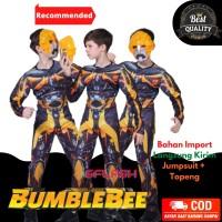 Kostum Bumblebee Transformer Anak Karakter Impor Otot Busa Laki Topeng - S