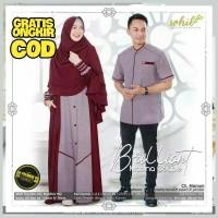 Baju Couple Muslim Pasangan / Gamis Couple Suami Istri Brilliant Syari