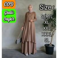 Baju gamis Muslim wanita Aluna maxi dress muslim Big Size Termurah