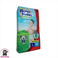 HAPPY NAPPY Baby Diapers Popok Perekat L40 L 40