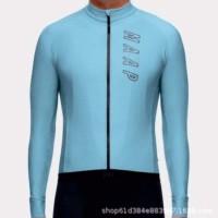 Baju Jersey Cycling Sepeda Lengan Panjang Import MAAP Premium 2376 - biru muda, xxl