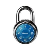master lock gembok putar kombinasi angka 4.8 cm 1505d - biru
