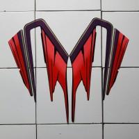sticker lis motor yamaha rx king 1995 hitam-merah