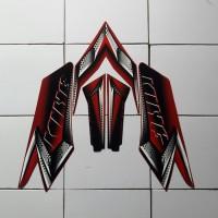 sticker lis motor yamaha rx king 2008 merah
