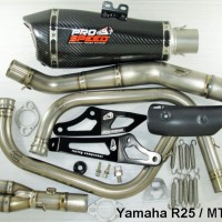 Knalpot Prospeed Titanium Predator Yamaha R25 / MT25 Fullsystem