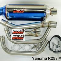Knalpot Prospeed New Blue Series Yamaha R25 / MT25 Fullsystem