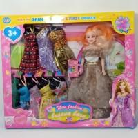 Boneka Barbie Set baju - Mainan anak boneka Barbie 10 set baju