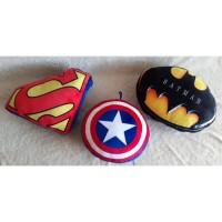 Bantal Superhero, Superman, Batman, Captain