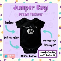 Baju Jumper Bayi Karakter Jumpsuit Baby Band dreamtheater - 6-12