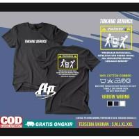 Kaos distro TUKANG SERVICE WARNING / baju android repair / t-shirt