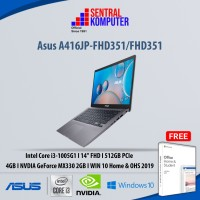 Asus A416JP - i3-1005G1 | MX330 | 4GB | 512GB SSD | Win 10 + OHS 2019