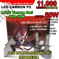 Lampu LED Autovision Carbon P2 H11 50W 11000Lumens 4700K