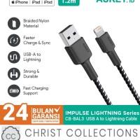 AUKEY KABEL DATA IPHONE LIGHTNING FAST CHARGING 1,2M MFI CB-BAL3