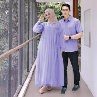 Gamis Muslim Couple l Nuraini CP l Grosir Import Moscrepe Pria Wanita