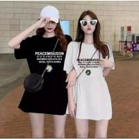 Oversize Arena Fashion Busana Atasan Wanita Kaos Oversized Shirt