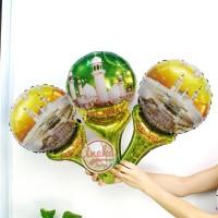 balon pentung lebaran / Balon foil idul fitri / hiasan lebaran