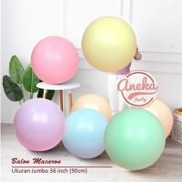 balon latex macaron jumbo 36 inch / balon pastel dekorasi macaron