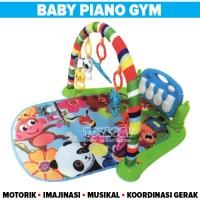 Mainan Bayi Baby Piano Play Gym Rack Musik Mat Musical Matras Playgym