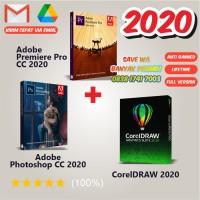 Paket corel draw 2020, adobe premiere pro 2020, adobe photoshop 2020 - Flashdisk 16 Gb
