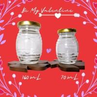 Be My Valentine Glass Drinking Jar / Gelas Kaca Toples Kaca