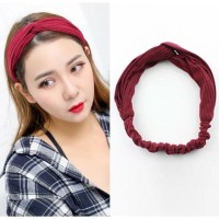 Bando rambut Korea Bandana Rajut Aksesoris Wanita Karet Bando MX1034