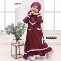 Dress Anak Perempuan umur 4-6 Tahun Baju Muslim Anak Termurah terbaru
