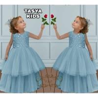 baju anak perempuan dress princess tule Baju Anak Muslim pesta terbaru