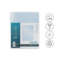 Bantex Pocket Antiglare 20 Sheets 0.08mm thickness A5 8032 08