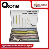 PISAU SET / KNIFE SET OXONE MULTI COLOR MARBLE OX 608N / OX-608N
