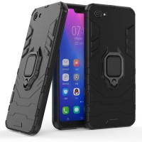 OPPO A39 A57 Black Panther Slim Hybrid Rugged Stand Ring Armor Case