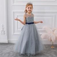 Parishkids Ruby Grey Gown Dress /Gown Pesta Anak Perempuan