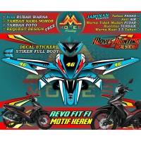 Decal Stiker Motor Revo FIT FI - Motif Warna Pola Keren 2