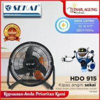 SEKAI KIPAS ANGIN MEJA TORNADO HDO 915S HDO915S HDO 915-S - RESMI