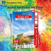 Kertas Art Carton Paper Double Side A4 210gsm ArtPaper Printer A4 20pc