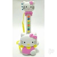 mainan musik gitar hello kitty edukasi anak balita 2 tahun