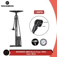 ROCKBROS 380G Pompa Sepeda 150psi Presta Schrader Pentil Kecil Besar