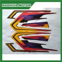 stiker striping motor yamaha rx king se 2002 hitam