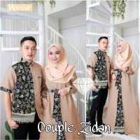 baju gamis pasangan Couple muslim terbaru lebaran 2021 zidan batik