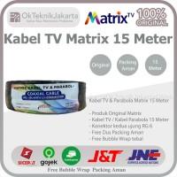 Kabel Matrix RG6 parabola + Jack Konektor F5 15 Meter Coaxial