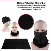 Baff masker Kain Hitam Polos mask slayer bandana Balaclava Motor COD